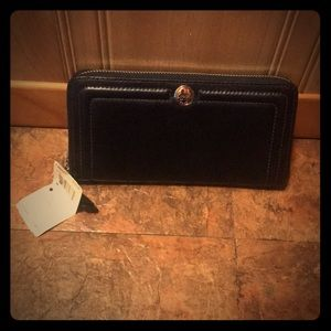 Navy blue coach wallet. Still with tags